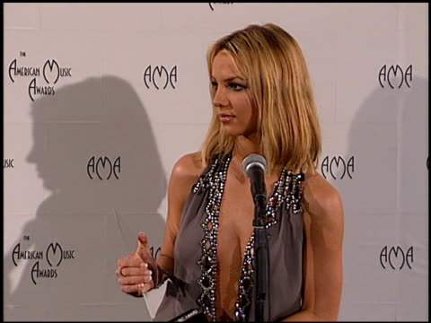 britney spears at the american music awards 2000 at the shrine auditorium in los angeles california on january 17 2000 - american music awards stock videos & royalty-free footage