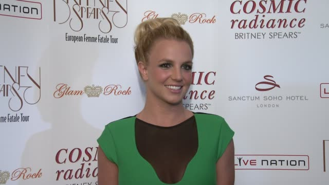 Britney Spears at the Britney Spears European Tour Launch Party at London England