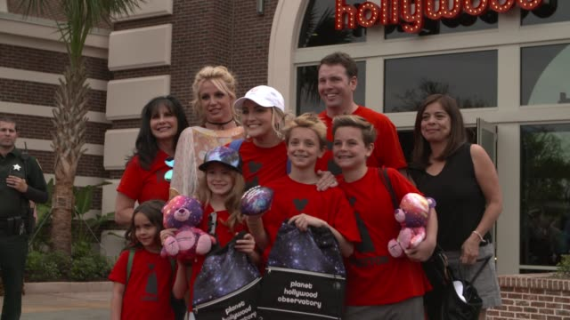 britney spears enjoys a family outing at planet hollywood disney springs at planet hollywood on march 13, 2017 in orlando, florida. - hollywood florida stock videos & royalty-free footage