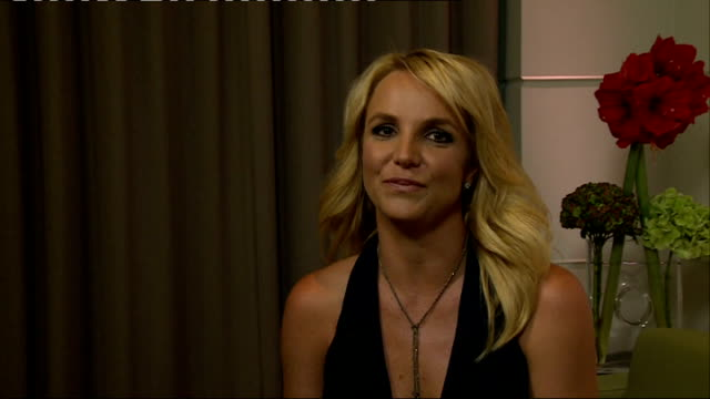 Britney Spears interview at launch of underwear range ENGLAND London INT Britney Spears interview SOT on wanting to express herself with new...