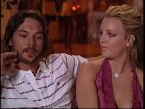 britney spears kevin chaotic interview - 2005 stock videos and b-roll footage