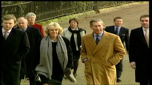 briton facing death penalty given another stay of execution; lib england: london: green park: ext prince charles and his wife camilla towards - itv lunchtime news stock-videos und b-roll-filmmaterial