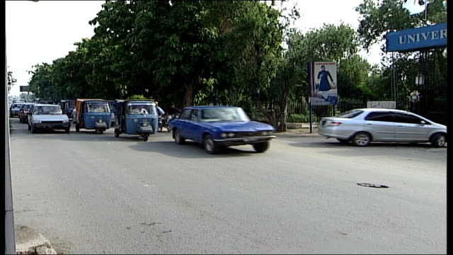 briton on death row gets reprieve pakistan lahore university of the punjab ext high angle view of campus street outside university - punjab pakistan stock videos and b-roll footage