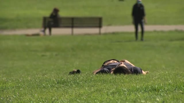 britons have been warned outdoor exercise may be banned if they continue to flout social distancing rules although there are no imminent changes to... - sunbathing stock videos & royalty-free footage