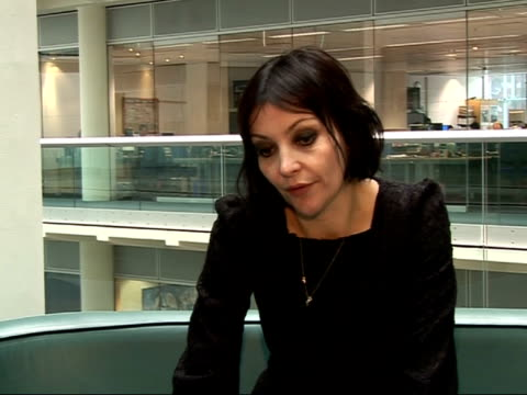 Britpop singer Pearl Lowe interview ENGLAND London GIR INT Pearl Lowe interview SOT Not wanting readers to think her life is/was 'cool' as she isn't...