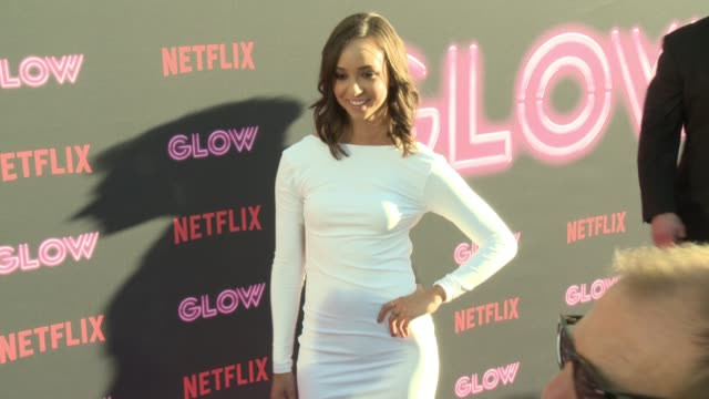 britt baron at a netflix original series glow los angeles premiere at arclight cinemas cinerama dome on june 21 2017 in hollywood california - cinerama dome hollywood stock videos and b-roll footage