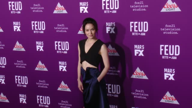 """britt lower at premiere of fx network's """"feud: bette and joan"""" in los angeles, ca 3/1/17 - fx network stock videos & royalty-free footage"""