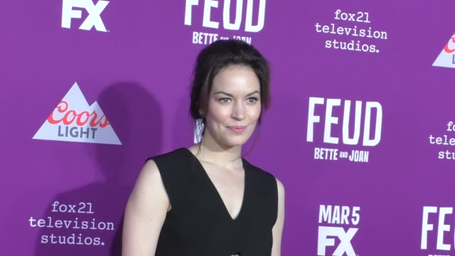 """britt lower at the premiere of fx network's """"feud: bette and joan"""" at tcl chinese theatre on march 01, 2017 in hollywood, california. - fx network stock videos & royalty-free footage"""