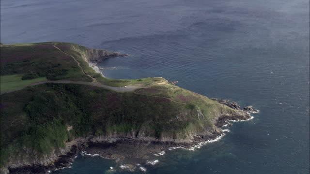 Costa-Bretanha Vista aérea-Bretanha, Filmagem de helicóptero, área de vídeo, cineflex, Plano de ambientação, França