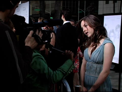 brittany curran at the 'akeelah and the bee' los angeles premiere at academy of motion picture arts & sciences in beverly hills, california on april... - academy of motion picture arts and sciences video stock e b–roll