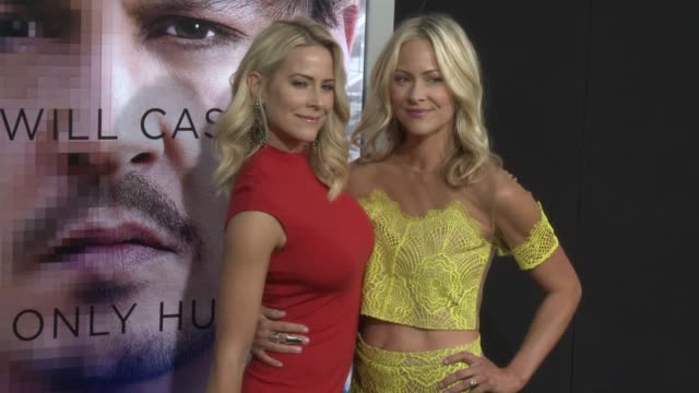 """brittany daniel and cynthia daniel at the """"transcendence"""" los angeles premiere at regency village theatre on april 10, 2014 in westwood, california. - regency village theater stock videos & royalty-free footage"""