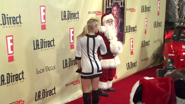 brittany daniel at the la direct magazine's holiday party at les deux in los angeles california on december 14 2007 - les deux club stock videos & royalty-free footage