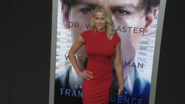 """brittany daniel at the """"transcendence"""" los angeles premiere at regency village theatre on april 10, 2014 in westwood, california. - regency village theater stock videos & royalty-free footage"""