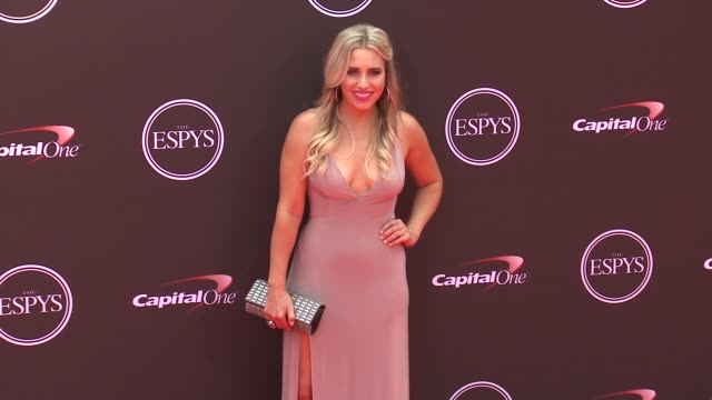vídeos de stock, filmes e b-roll de brittany force at the 2018 espys at microsoft theater on july 18 2018 in los angeles california - espy awards