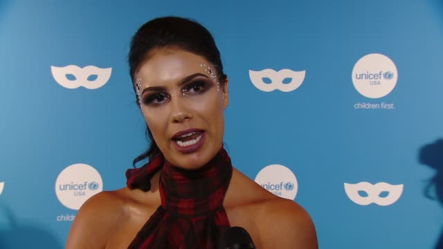 INTERVIEW Brittany Letto on UNICEF at Sixth Annual UNICEF Masquerade Ball 2018 in Los Angeles CA