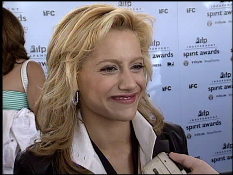brittany murphy at the 2003 ifp independent spirit awards on march 22 2003 - ifp independent spirit awards stock videos and b-roll footage