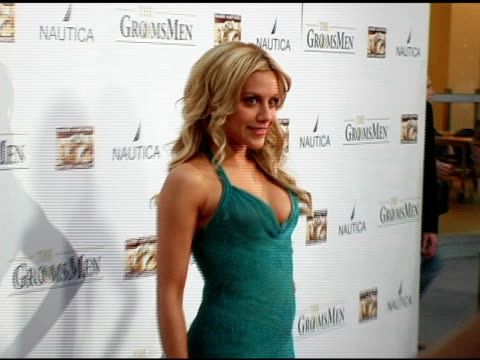 brittany murphy at the 'the groomsmen' premiere at arclight cinemas in hollywood, california on july 12, 2006. - arclight cinemas hollywood stock videos & royalty-free footage