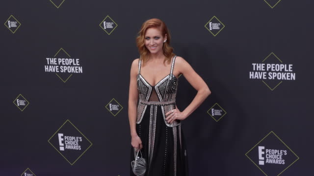brittany snow at the 2019 e people's choice awards at barker hangar on november 10 2019 in santa monica california - people's choice awards stock videos & royalty-free footage