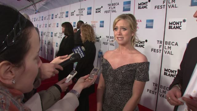 brittany snow at the 7th annual tribeca film festival finding amanda premiere at borough of manhattan community college / tribeca performing arts in... - community college stock videos & royalty-free footage