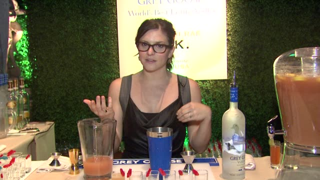 brittini rae on what she prepared for the evening at a taste of the world presented by breeders' cup grey goose vodka on 11/2/2012 in pasadena ca - grey goose vodka stock videos & royalty-free footage