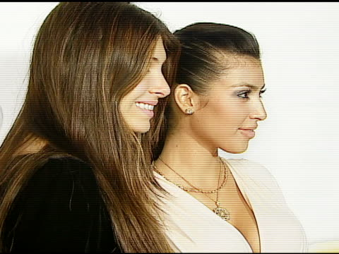 brittny gastineau and kim kardashian at the seenon com launch party cosponsored by tv guide at boulevard 3 in hollywood california on december 6 2006 - 2006 stock videos & royalty-free footage