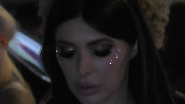 brittny gastineau at the tequila casamigos halloween bash at tower records in west hollywood at celebrity sightings in los angeles on october 27 2017... - tower records stock videos & royalty-free footage