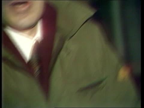 vídeos de stock, filmes e b-roll de england london brixton ms damaged car youths wander by hatfield i/c intvw with car owner cas ex eng/l/b 30secs d13481/nat archive tape 17160 2734 to... - brixton