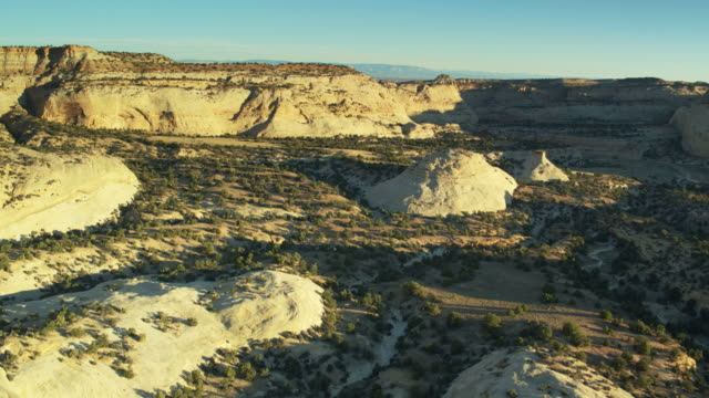 broad and deep canyon in the san rafael swell, utah - drone shot - san rafael swell stock videos and b-roll footage