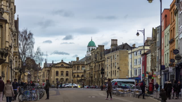 broad street, oxford - oxford england stock videos & royalty-free footage