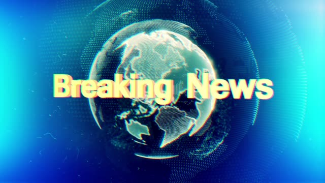 broadcast earth globe animation - breaking news stock videos and b-roll footage