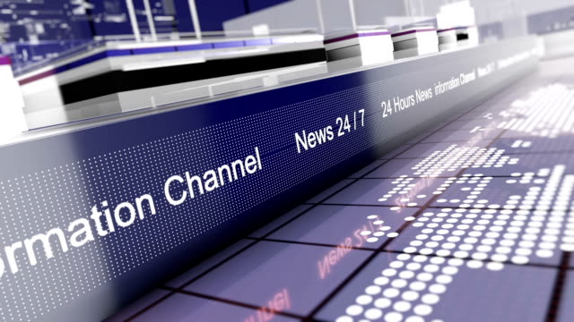 Broadcast news intro animation - News opener - News headline - Blue
