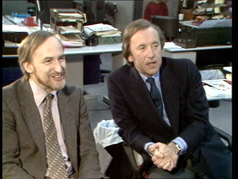 broadcast tv; england: london: int david frost watching cms frost watching pull out another watching cas ex bbc/eng 2.45mins tx:17.1.83/nao archive... - david frost broadcaster stock videos & royalty-free footage