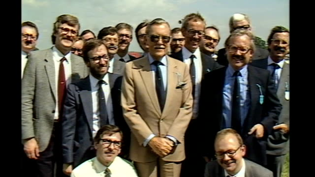 Broadcaster Alan Whicker dies aged 87 144208 Sussex Plumpton Plumpton racecourse EXT Alan Whicker surrounded by members of the Alan Whicker...
