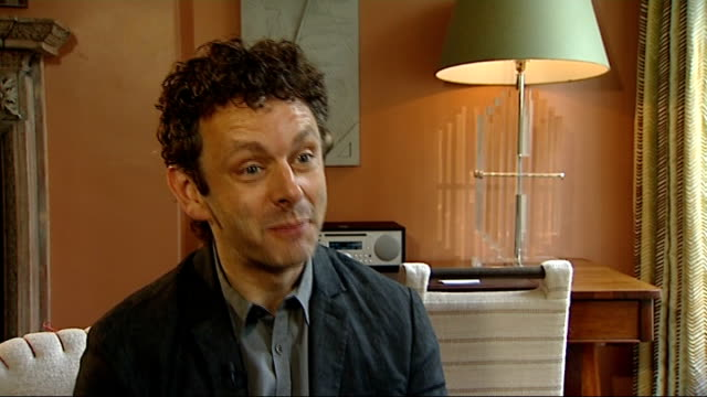 michael sheen interview england london int michael sheen interview sot - david frost broadcaster stock videos and b-roll footage