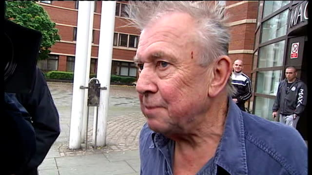 broadcaster ray gosling arrives at court; gosling answers his phone sot gosling chats to journalists sot - spoke on behalf of people particularly... - gosling stock videos & royalty-free footage
