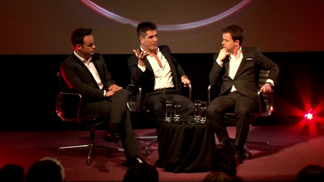 stockvideo's en b-roll-footage met ant and dec talk about new show red or black cowell press conference sot gives credit with the show's devisers / going to see massive events anthony... - ant mcpartlin