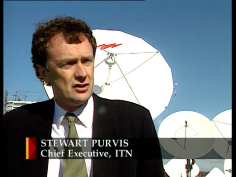 ITV/ITN 40th anniversary ITN ENGLAND London Stewart Purvis intvw SOT TV news is the way people get their news