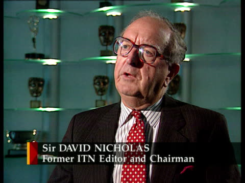 ITV/ITN 40th anniversary ITN ENGLAND London Sir David Nicholas intvw SOT News expressed in a popular and easily understandable way