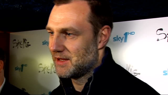 new television series skellig to be broadcast david morrissey interview sot on why he's here kids can't wait to see it / on doctor who what he thinks... - doctor who stock videos & royalty-free footage