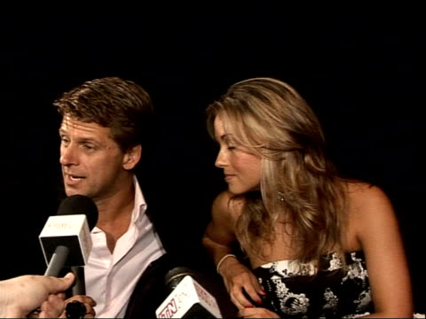 """""""strictly come dancing"""" line up announced; andrew castle and ola jordan interview sot - ストリクトリーカムダンシング点の映像素材/bロール"""
