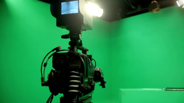 broadcasting studio green screen - stage set stock videos & royalty-free footage