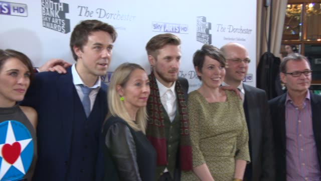 BROLL Broadchurch cast at South Bank Sky Arts Award at Dorchester Hotel on January 27 2014 in London England