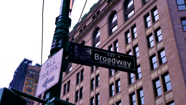 broadway 1 sign - casino font stock videos & royalty-free footage
