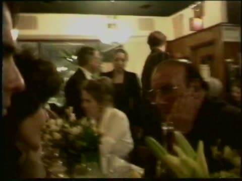 broadway and film producer has a birthday party at restaurant, due with celebrities attending. - clive davis stock videos & royalty-free footage