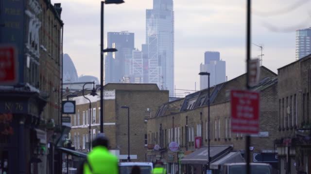 broadway market, london in winter - hackney stock videos & royalty-free footage