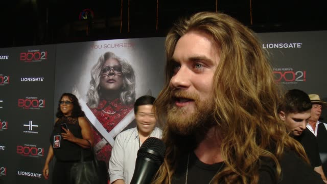 """INTERVIEW Brock O'Hurn on the premiere at Lionsgate Presents the Los Angeles Premiere of Tyler Perry's """"Boo 2 A Madea Halloween"""" in Los Angeles CA"""