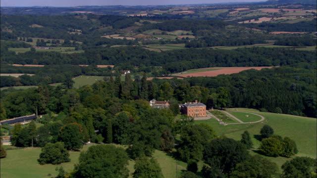 brockhampton hall - aerial view - england, herefordshire, brockhampton, united kingdom - herefordshire stock videos & royalty-free footage