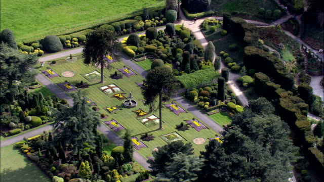 Brodsworth Hall Gardens  - Aerial View - England,  Doncaster,  Brodsworth,  United Kingdom