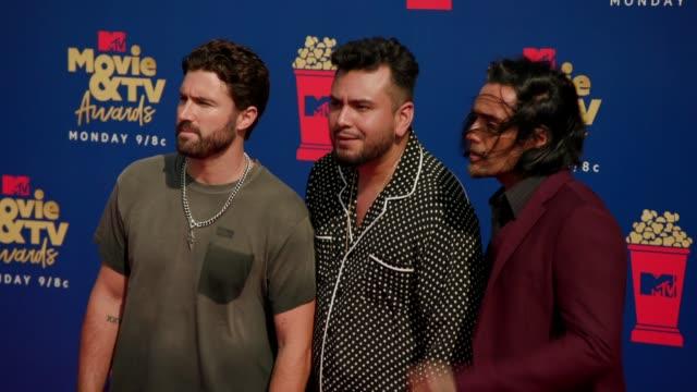 Brody Jenner Frankie Delgado and Justin Brescia at the 2019 MTV Movie TV Awards at Barkar Hangar on June 15 2019 in Santa Monica California