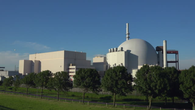 brokdorf nuclear power plant, brokdorf, lower elbe, schleswig-holstein, germany - schleswig holstein stock videos & royalty-free footage